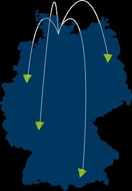 Infografik deutschlandweite Lieferung